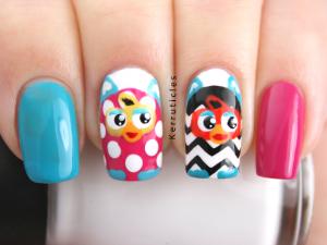 Furby nails manicure