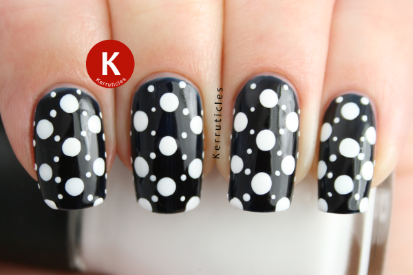 L'Oreal Midnight Mistress white dots
