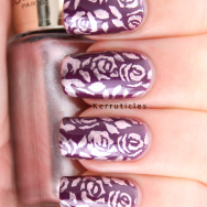 L'Oreal Wild Purple stamped Sweet Amethyst MoYou Pro XL 10 nails
