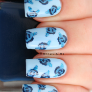 Blue Roses January Blues Polish Party nails