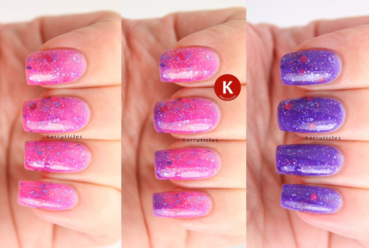 Polish Me Silly Grape Expectations colour changing montage