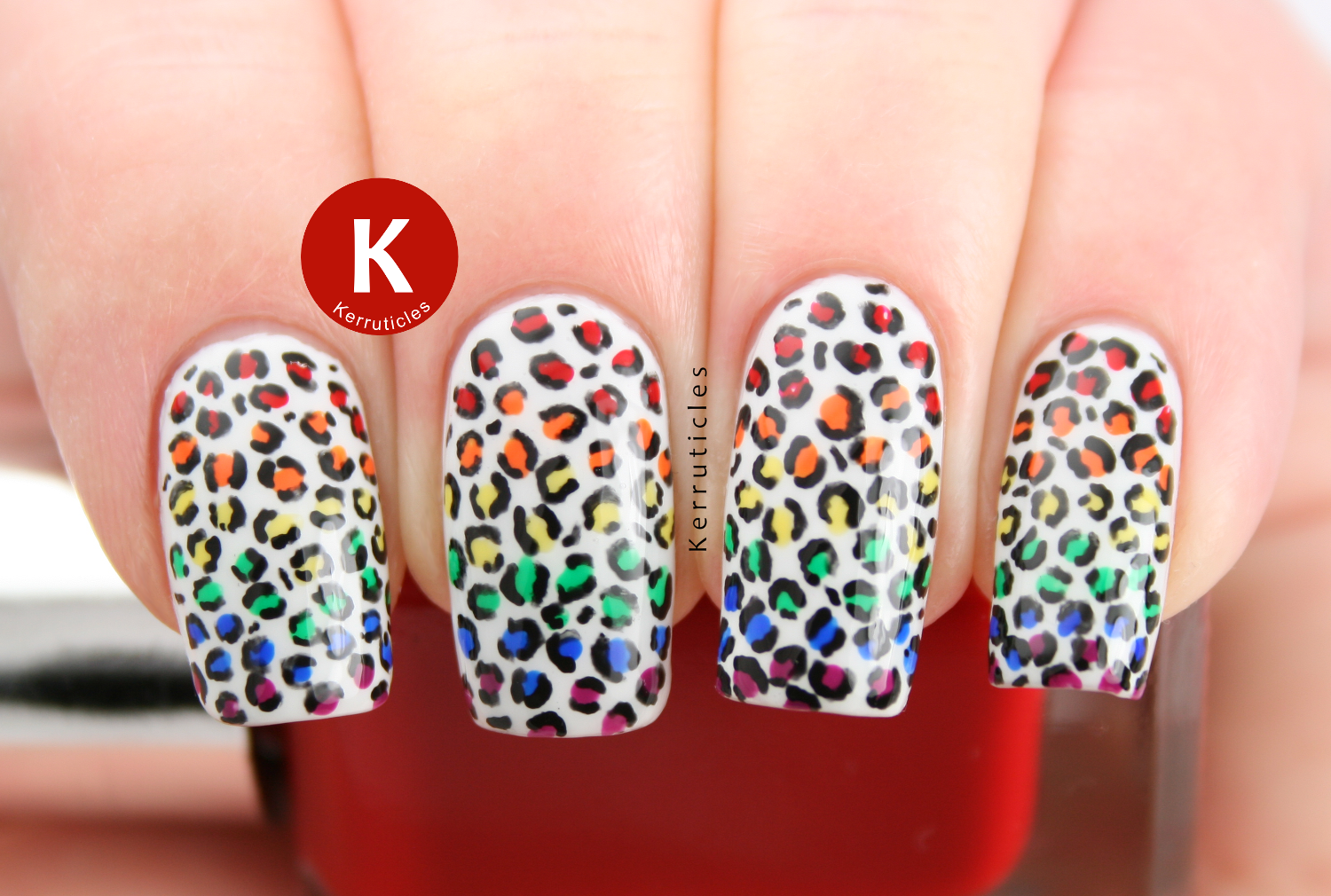 Rainbow gradient mini leopard print