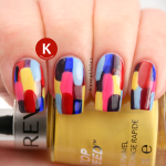 Abstract Revlon Multi-Coloured Elmer manicure IG