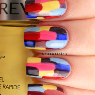 Abstract Revlon Multi-Coloured Elmer manicure nails