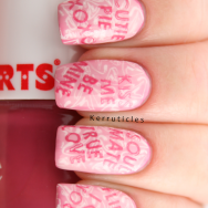 Candy Heart Love Hearts sayings nails