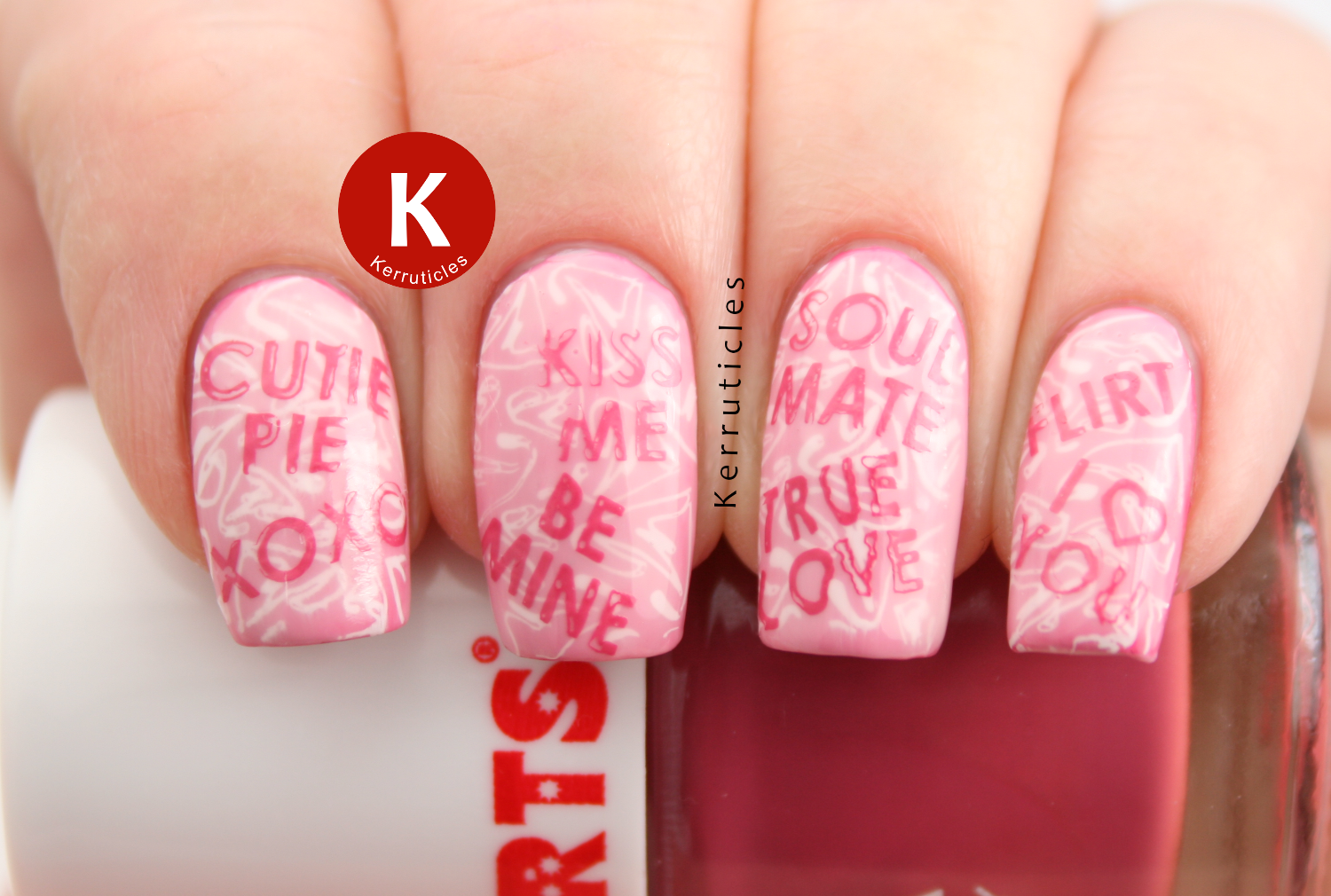 Week Of Love Valentine\'s Nail Art Challenge: Candy Heart Sayings ...