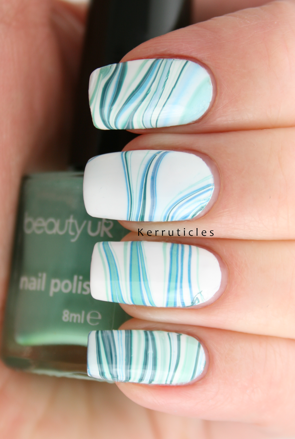 GOT Polish Challenge: Green: green water marble | Kerruticles
