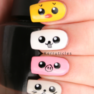 Japanese Kawaii cute animals nails