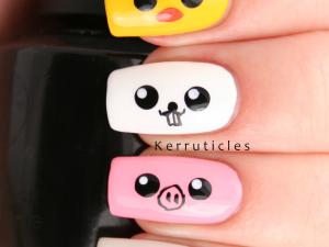 Japanese Kawaii cute animals nails