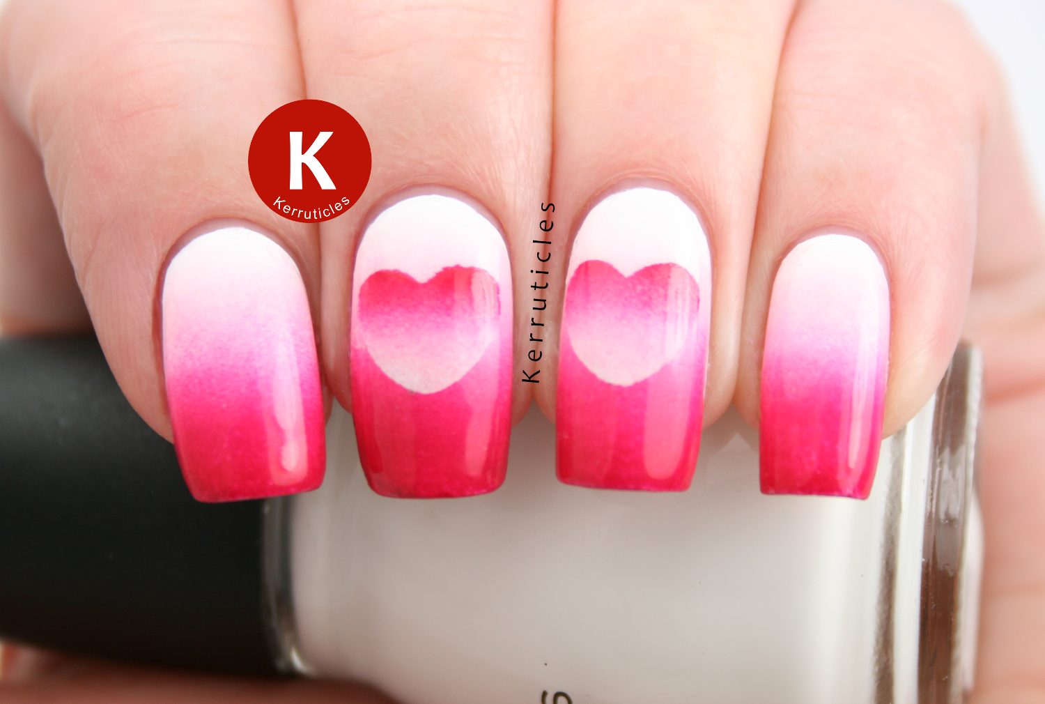 Week Of Love Valentine\'s Nail Art Challenge: Hearts: Reverse ...