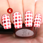 Red and coral dotted gradient