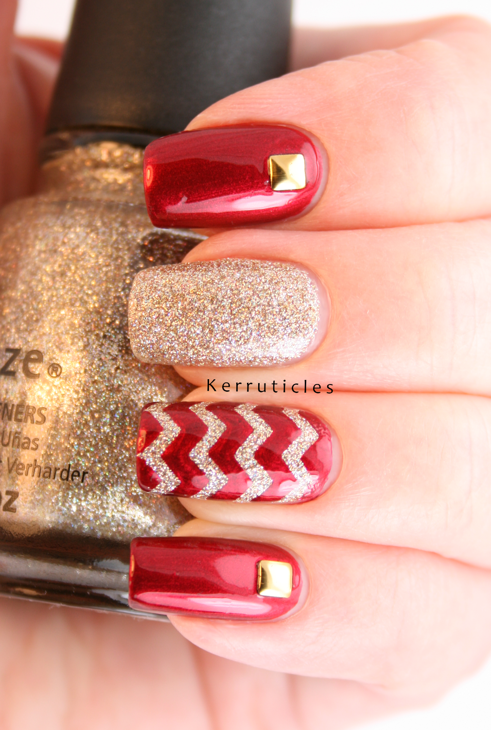 Red skittlette nails: A England Perceval, China Glaze I\'m Not Lion ...
