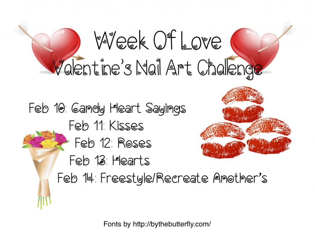 Week of Love Valentine's Nail Art Challenge