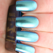 Barry M Pacific aquarium duochrome blue green nails