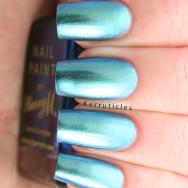 Barry M Pacific aquarium duochrome blue green nails