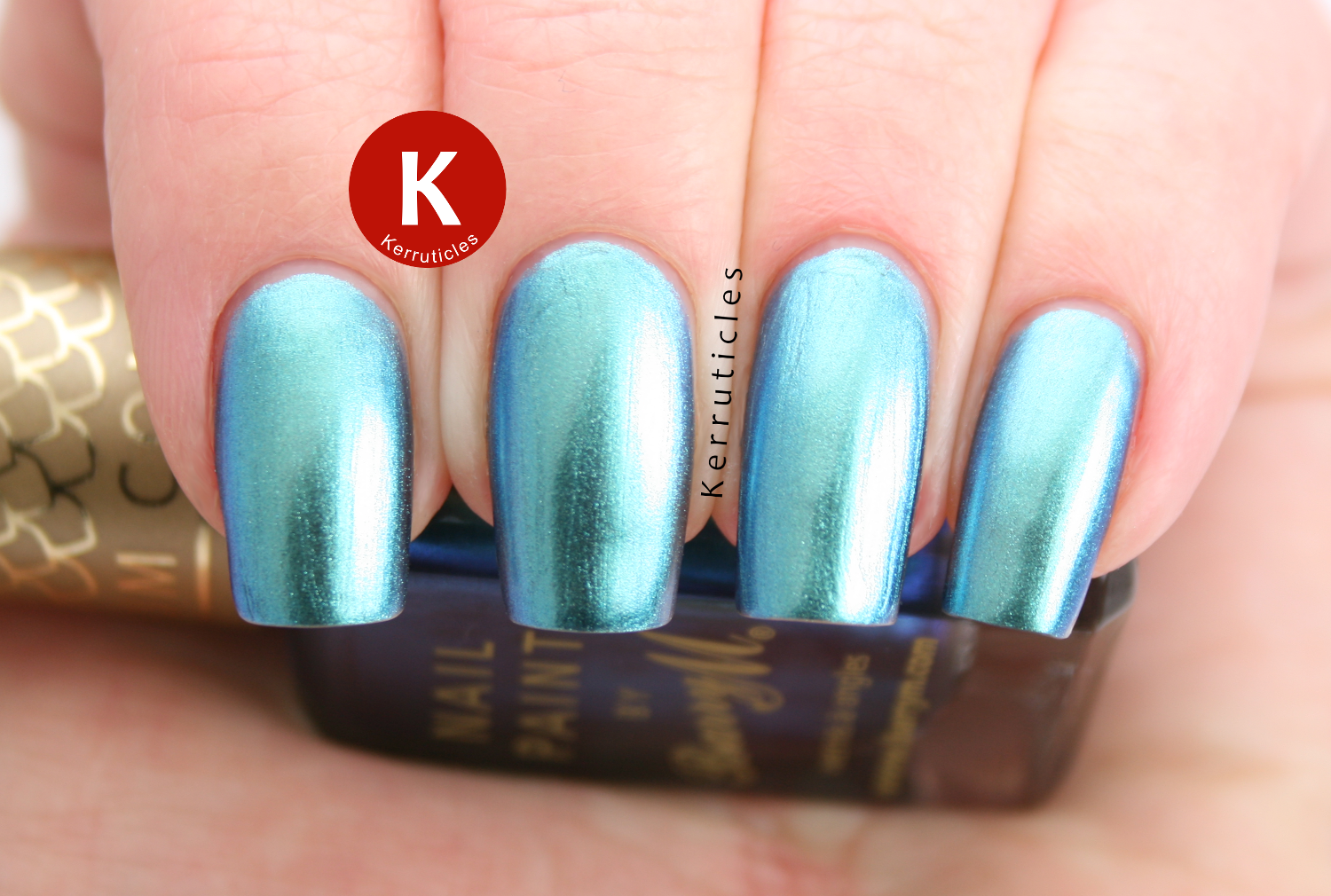 Barry M Pacific aquarium duochrome blue green