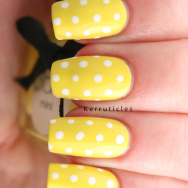 Ciate Big Yellow Taxi polka dots nails