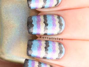 Color Club Halo Hues 2013 ruffle nails