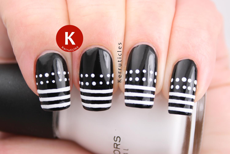 Dots stripes black white