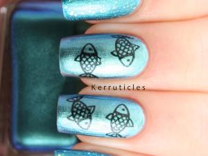 Fish nail tattoos Barry M Pacific nails