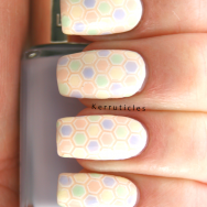 L'Oreal Les Blancs pastels stamping decal nails