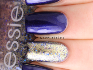 L'Oreal Mystic Blue Essie On A Silver Platter nails