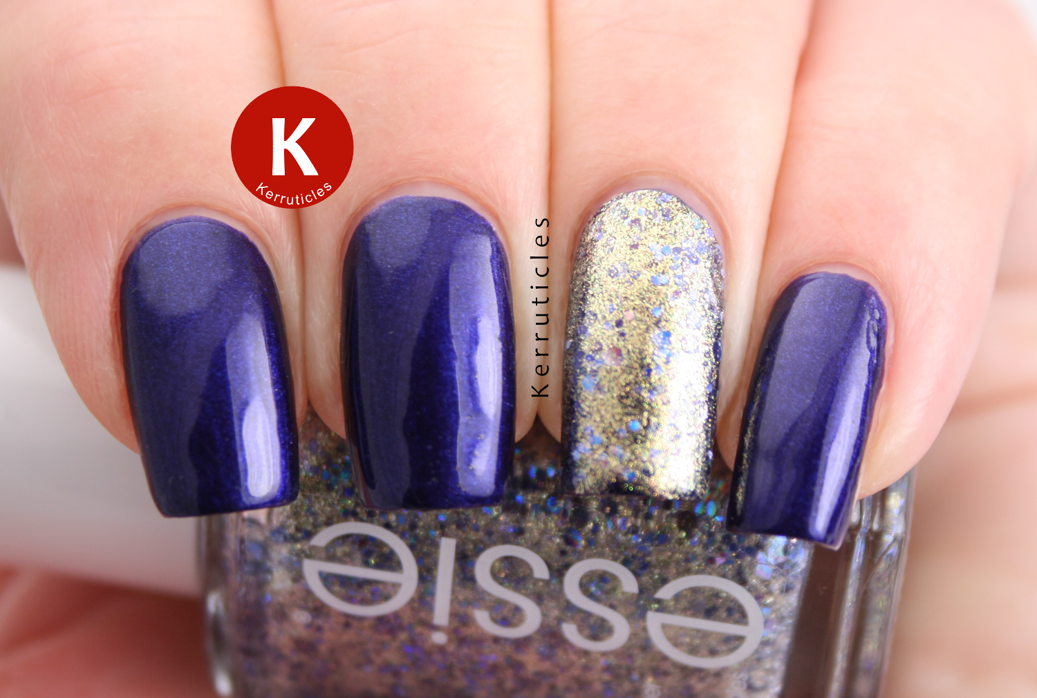 L'Oreal Mystic Blue Essie On A Silver Platter