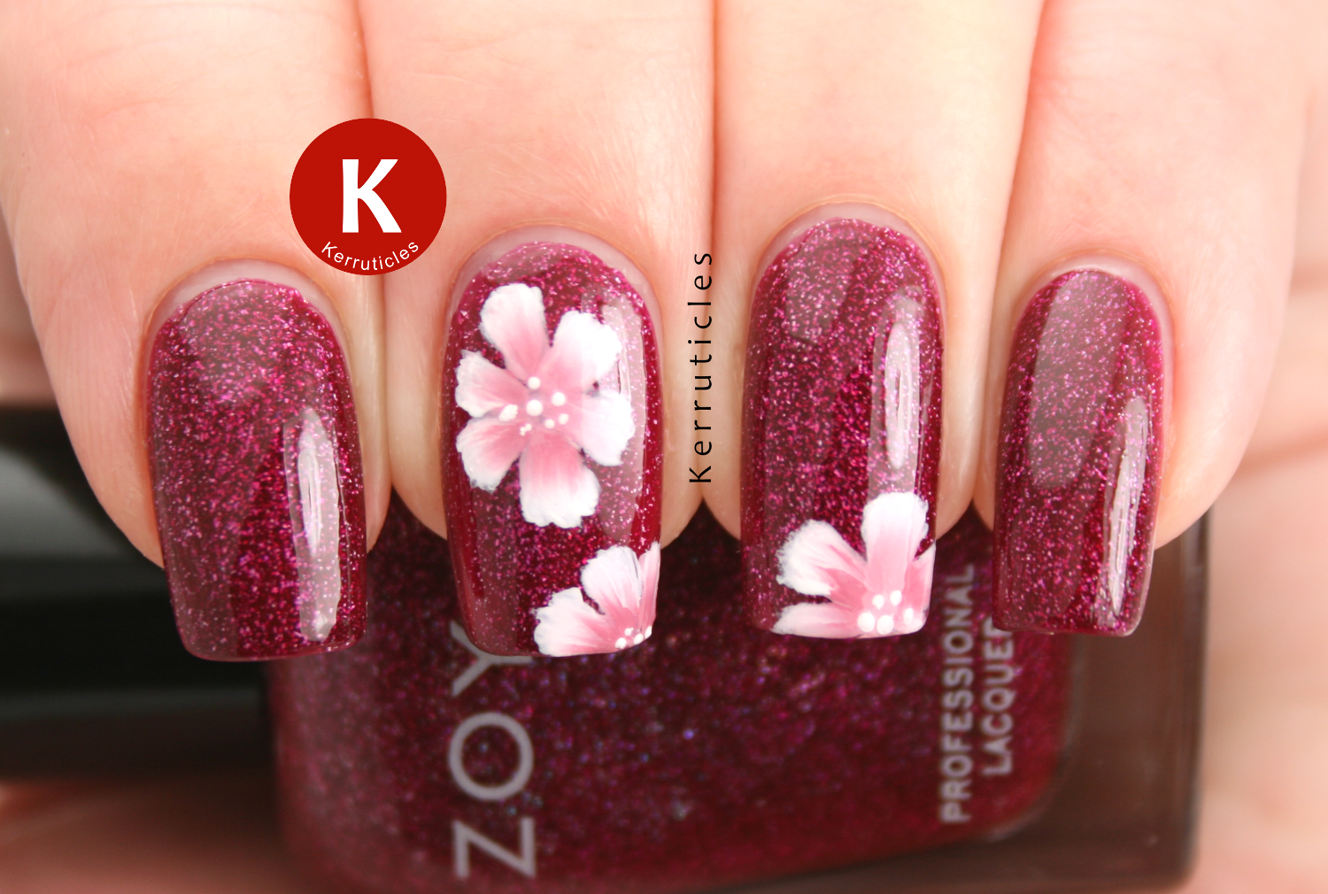 One stroke flowers Zoya Blaze