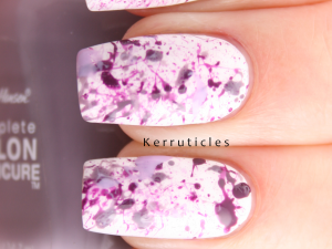 Purple splatter nails