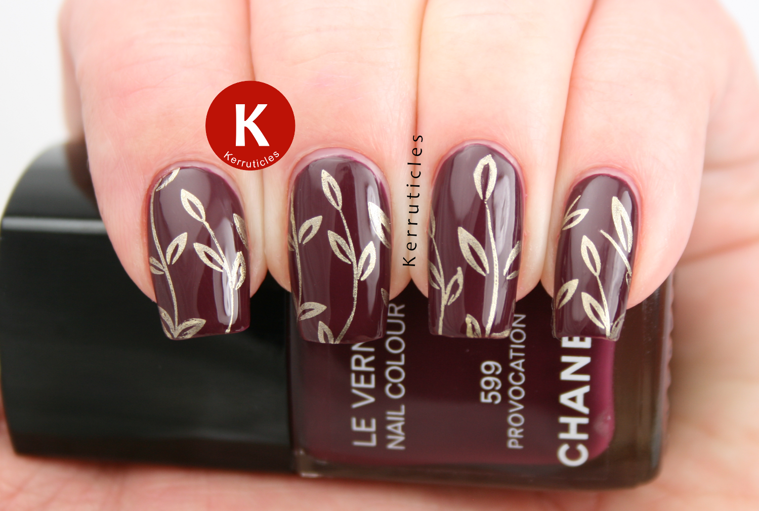 Chanel Provocation stamped with Barry M Foil Effects Gold and CIC&SISI 05