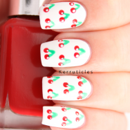 Cherries nails delicious prompt nails