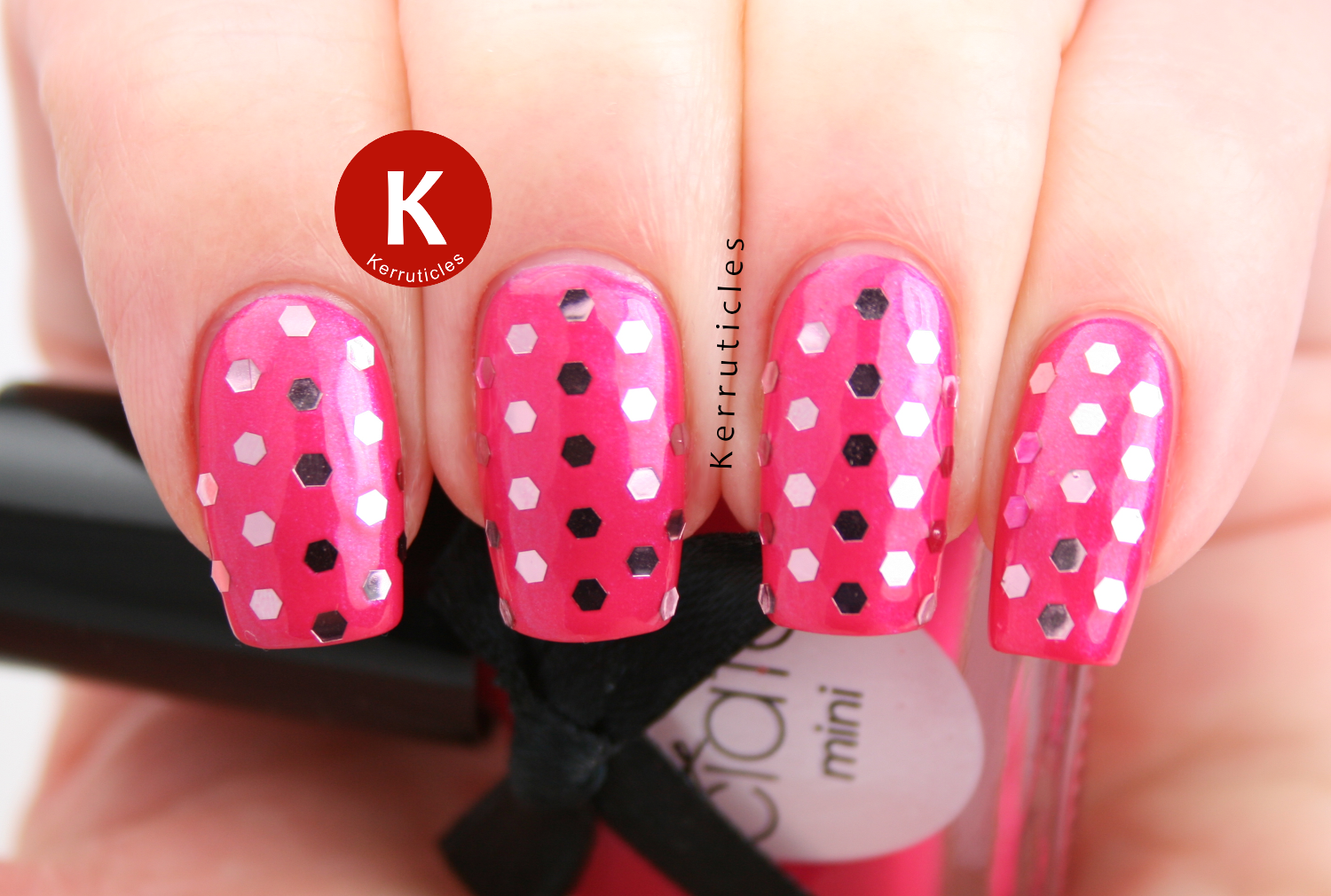 Ciate Cupcake Queen pink glequins polka dots