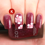 One-stroke flowers over Zoya Blaze