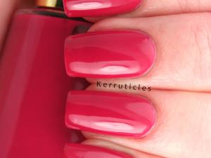 Revlon Cherries In Snow nails