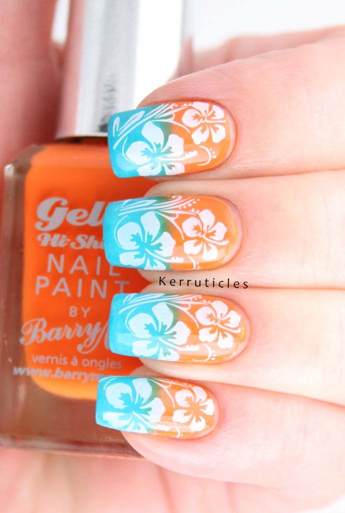 Hawaiian Hibiscus Stamped Grant Tropical Got Polish Challenge Kerruticles