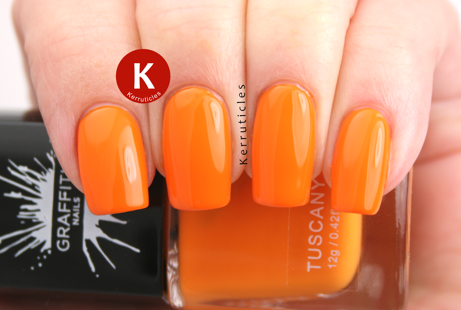 Graffiti Nails Tuscany orange polish