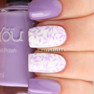 Lilac stamped MoYou Nails OPI Do You Lilac It