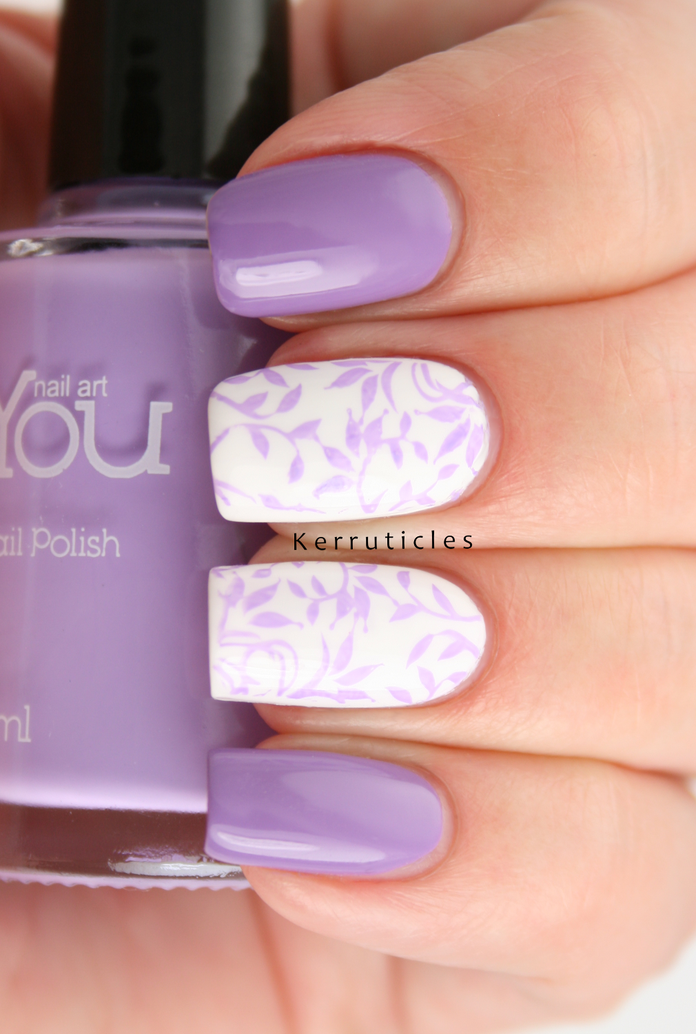 Opi Do You Lilac It With Lilac Stamping Using Moyou Nails Kerruticles
