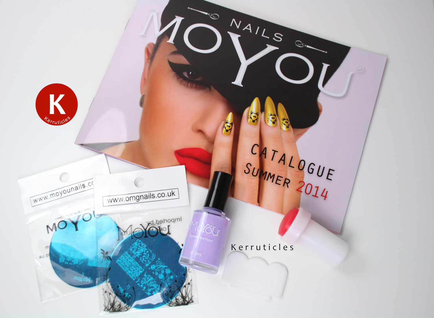 MoYou Nails catalogue, stamping polish, plates, stamper and scraper