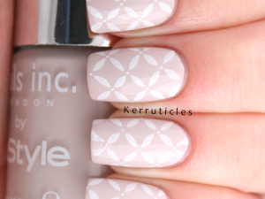 Nails Inc Sao Paulo Streets, stamped using CICI & SISI 02 and Konad special white