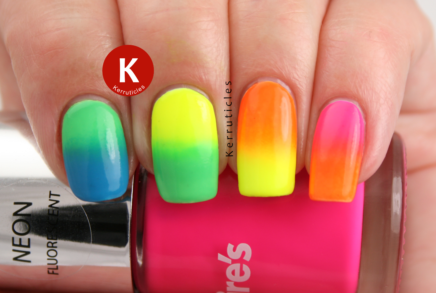 Neon rainbow gradient skittle