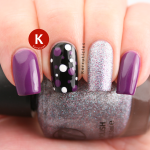 Purple, silver, black skittlette