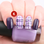 Purple tartan plaid nails OPI Do You Lilac It
