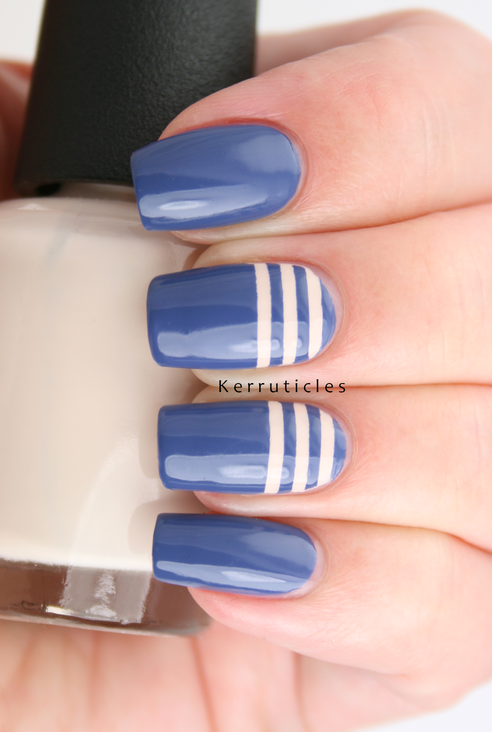 Rimmel Navy Seal with cream stripes | Kerruticles