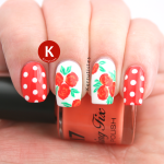Orange roses and polka dots