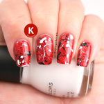 Red, black & white splatter