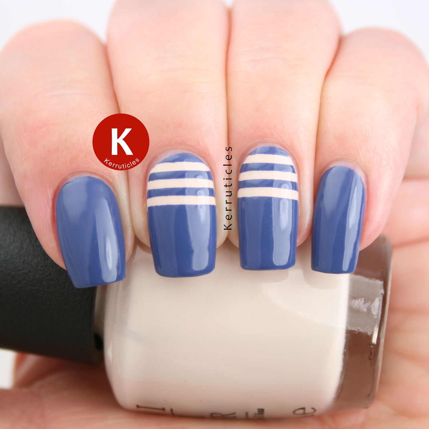 Rimmel Navy Seal with cream stripes