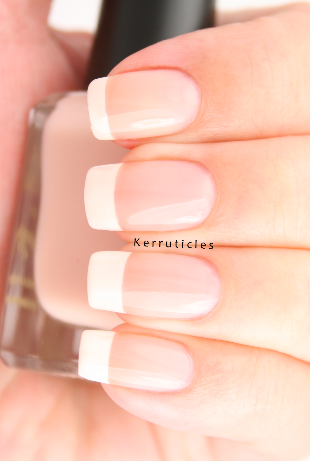 N is for: Nude from Barry M: classic French manicure | Kerruticles