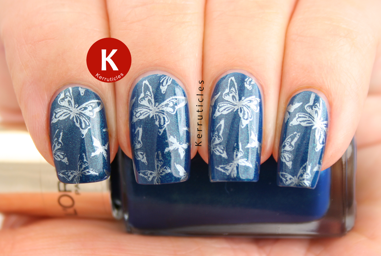 L'Oreal Magic Croisette stamped with butterflies using Saphir Treasure and Bundle Monster BM-307
