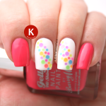 Multi-coloured neon round glitter placement dots